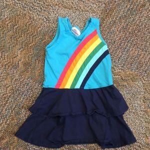 Girls Hanna Andersson Rainbow dress, 100/4